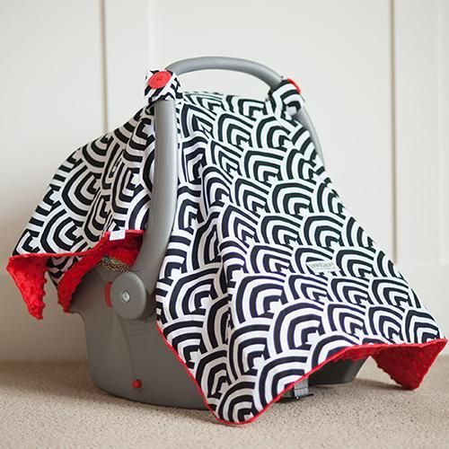 Solomon Original Minky Car Seat Canopy Canopy by Couture - My Little Baby Bug