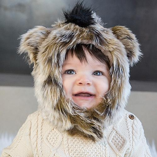 Hyena Faux Fur Hat for Kids & Adults by Eskimo Kids | www.mylittlebabybug.com