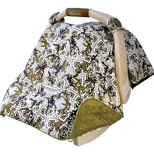 Hawkslee Original Minky Car Seat Canopy Canopy by Couture | www.mylittlebabybug.com