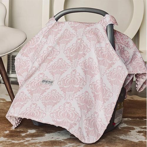 Angelina Original Minky Car Seat Canopy Canopy by Couture | www.mylittlebabybug.com