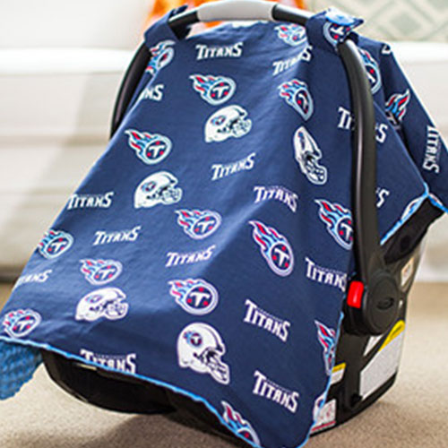 Tennessee by NFL Licensed Minky Car Seat Canopy by Canopy Couture | www.mylittlebabybug.com
