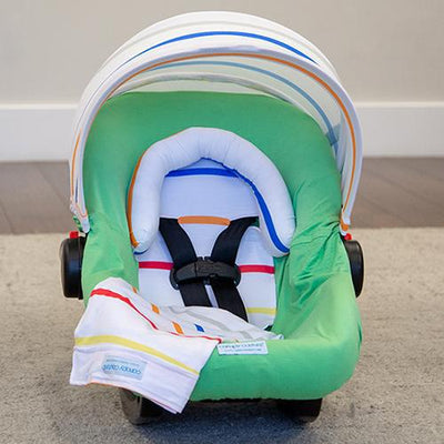 Tatum Car Seat Cover Whole Caboodle by Canopy Couture | www.mylittlebabybug.com