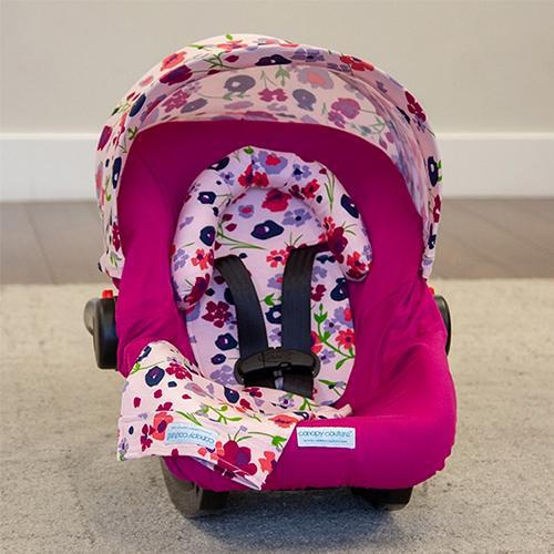 Summer Car Seat Cover Whole Caboodle by Canopy Couture | www.mylittlebabybug.com