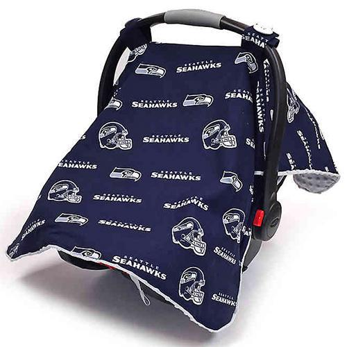 Seattle by NFL Licensed Minky Car Seat Canopy by Canopy Couture | www.mylittlebabybug.com