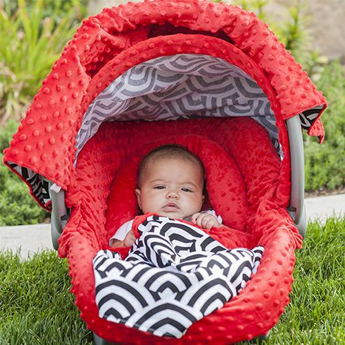 Solomon Car Seat Cover Whole Caboodle by Canopy Couture - www.mylittlebabybug.com