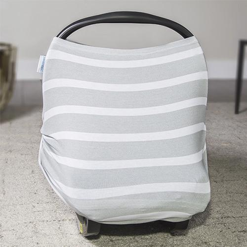 Gray Stripes Multi Use Stretch Cover by Canopy Couture - My Little Baby Bug