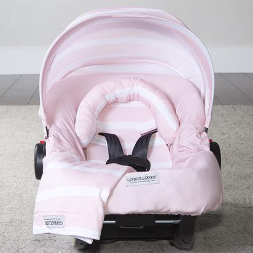 Pink Stripes Car Seat Cover Whole Caboodle by Canopy Couture - www.mylittlebabybug.com