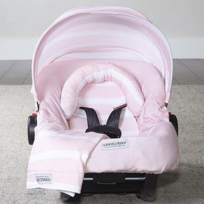 Pink Stripes Car Seat Cover Whole Caboodle by Canopy Couture | www.mylittlebabybug.com