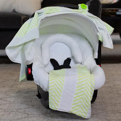 Lucas Car Seat Cover Whole Caboodle in Muslin by Canopy Couture | www.mylittlebabybug.com