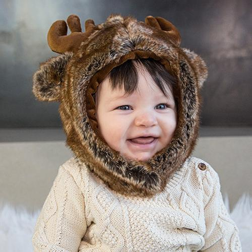 Moose Faux Fur Hat for Kids & Adults by Eskimo Kids | www.mylittlebabybug.com