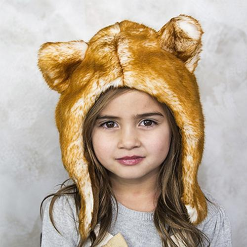 Red Fox Faux Fur Hat for Kids & Adults by Eskimo Kids | www.mylittlebabybug.com