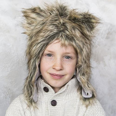 Grizzly Bear Faux Fur Hat for Kids & Adults by Eskimo Kids | www.mylittlebabybug.com