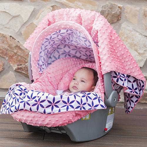 Kendra Car Seat Cover Whole Caboodle by Canopy Couture - www.mylittlebabybug.com