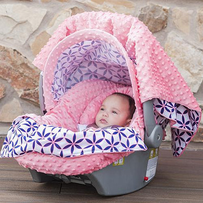 Kendra Car Seat Cover Whole Caboodle by Canopy Couture | www.mylittlebabybug.com