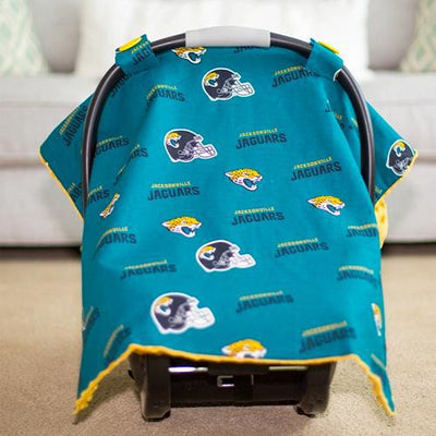 Jacksonville by NFL Licensed Minky Car Seat Canopy by Canopy Couture | www.mylittlebabybug.com