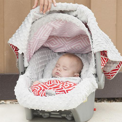 Jayden Car Seat Cover Whole Caboodle by Canopy Couture | www.mylittlebabybug.com