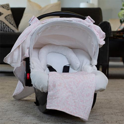 Ivy Car Seat Cover Whole Caboodle in Muslin by Canopy Couture | www.mylittlebabybug.com