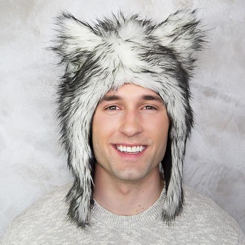 Wolf Faux Fur Hat for Kids & Adults by Eskimo Kids - My Little Baby Bug