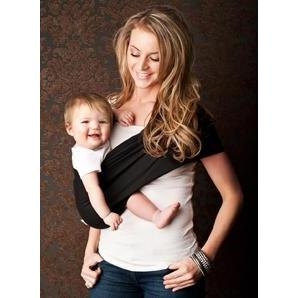 Black Everyday Baby Sling Pouch Carrier by Seven Baby | www.mylittlebabybug.com