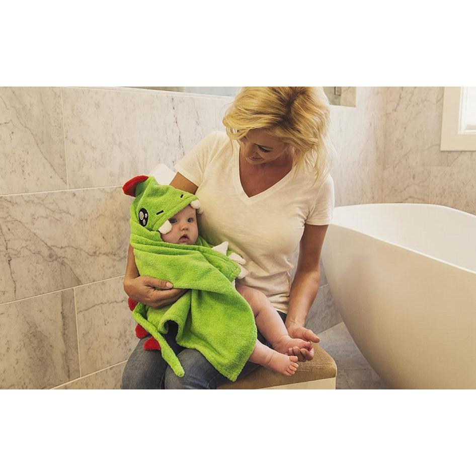 Hugasaurus Dinosaur Hooded Towel by My Little Baby Bug - www.mylittlebabybug.com