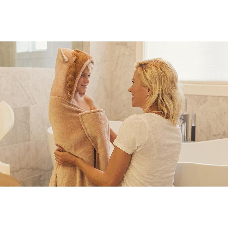 Leo Lion Hooded Towel - Infant to Adult Sizes-www.mylittlebabybug.com