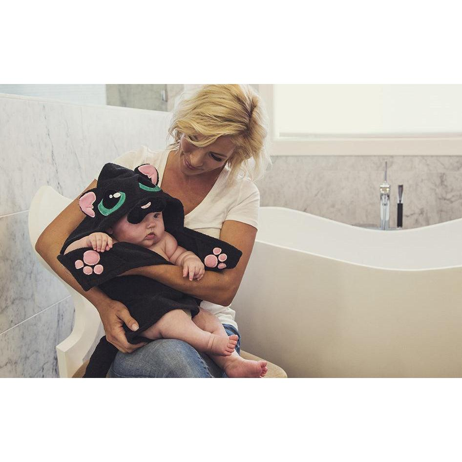 Shadow Kitty Hooded Towel - Infant to Adult Sizes-www.mylittlebabybug.com