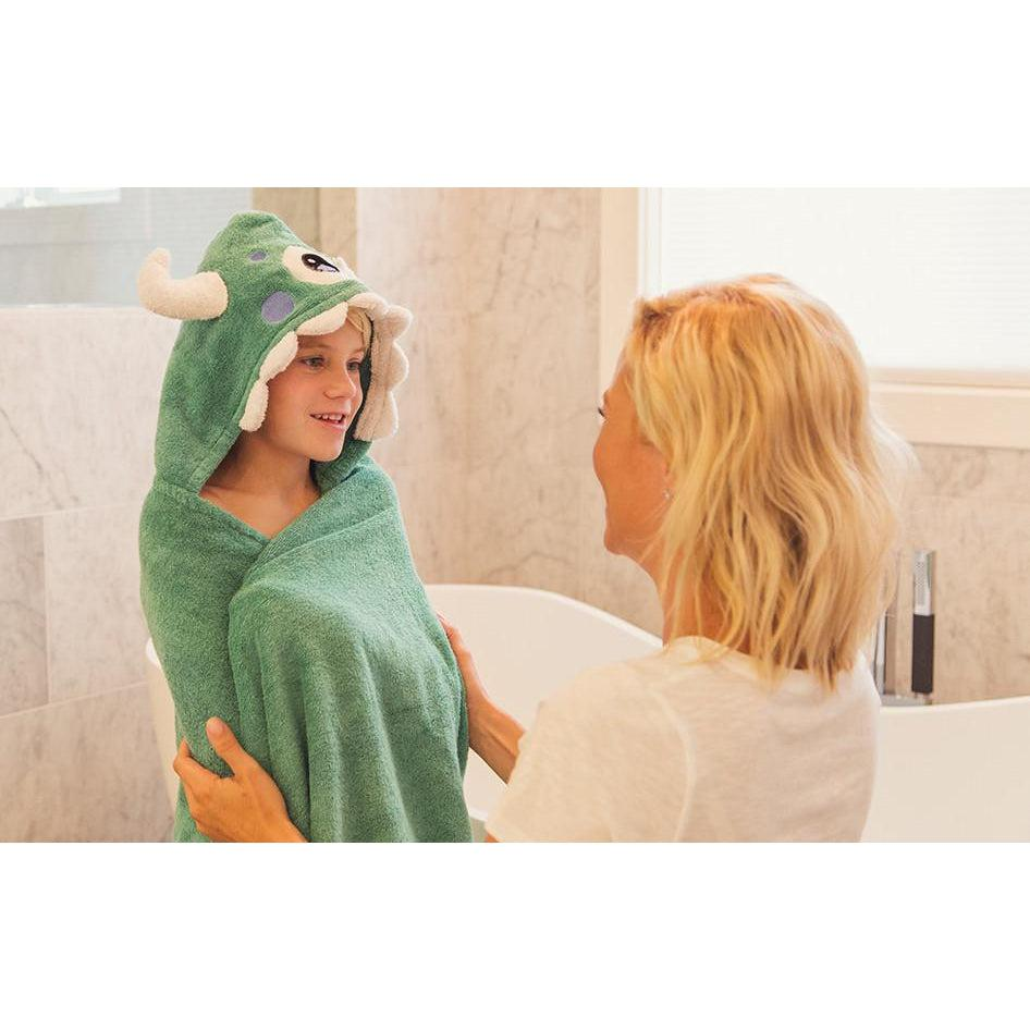 Moe Monster Hooded Towel | www.mylittlebabybug.com
