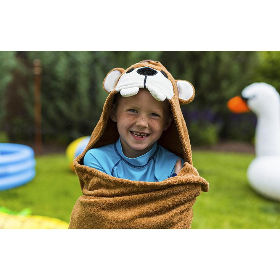 Theo Teddy Bear Hooded Towel | www.mylittlebabybug.com