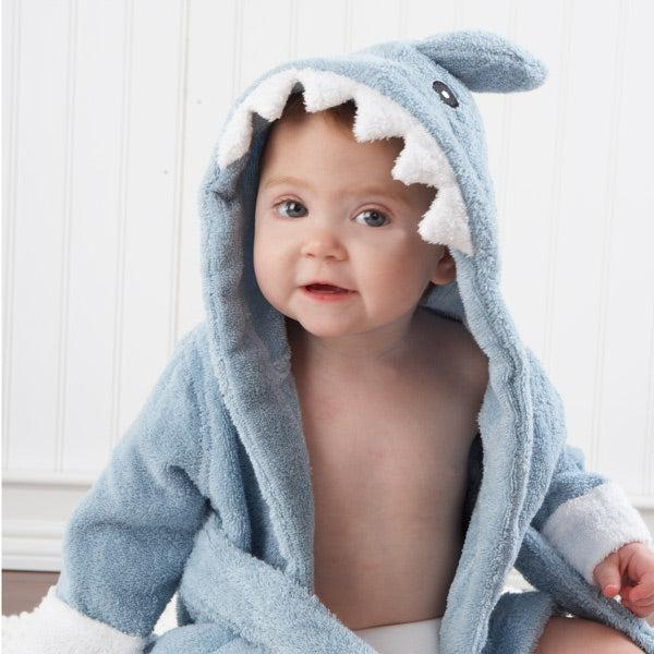 """Let the Fin Begin"" Shark Spa Robe-www.mylittlebabybug.com"