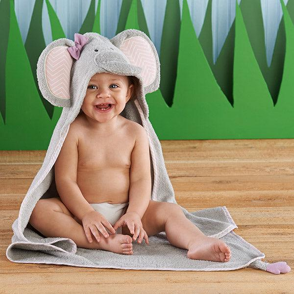 """Splish Splash Elephant Bath"" Spa Hooded Towel-www.mylittlebabybug.com"