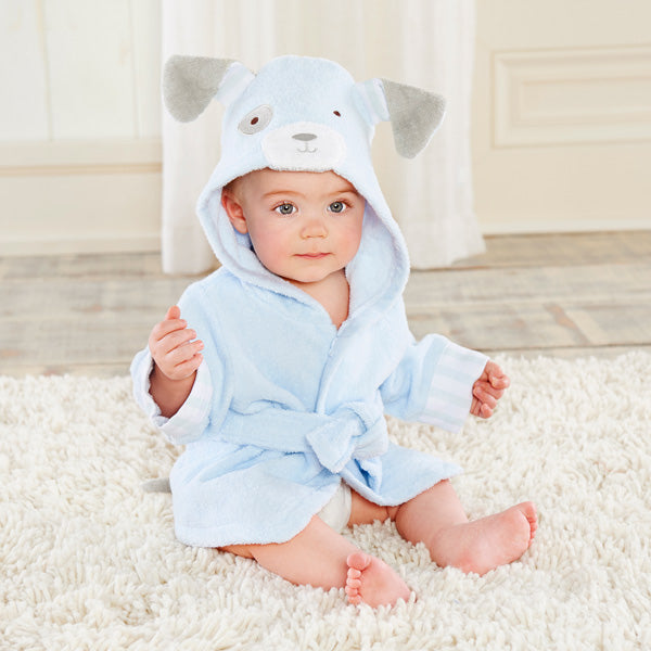 Bathtime Bow Wow Puppy Hooded Spa Robe-www.mylittlebabybug.com