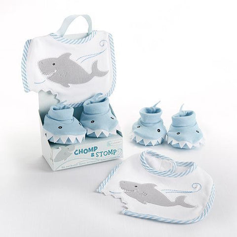 Chomp & Stomp Bib and Booties Set - www.mylittlebabybug.com