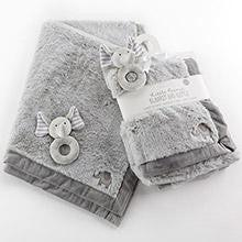 Elephant Blanket and Rattle Set - www.mylittlebabybug.com
