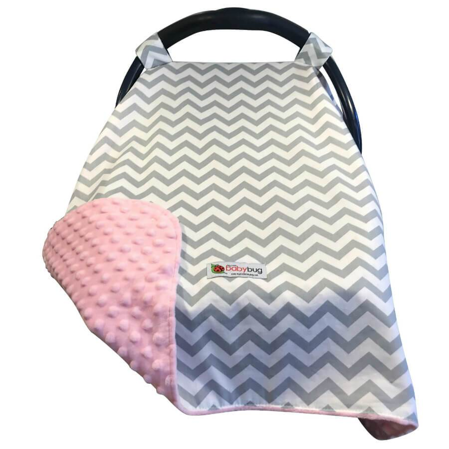 Ella Car Seat Canopy Cover by My Little Baby Bug | www.mylittlebabybug.com