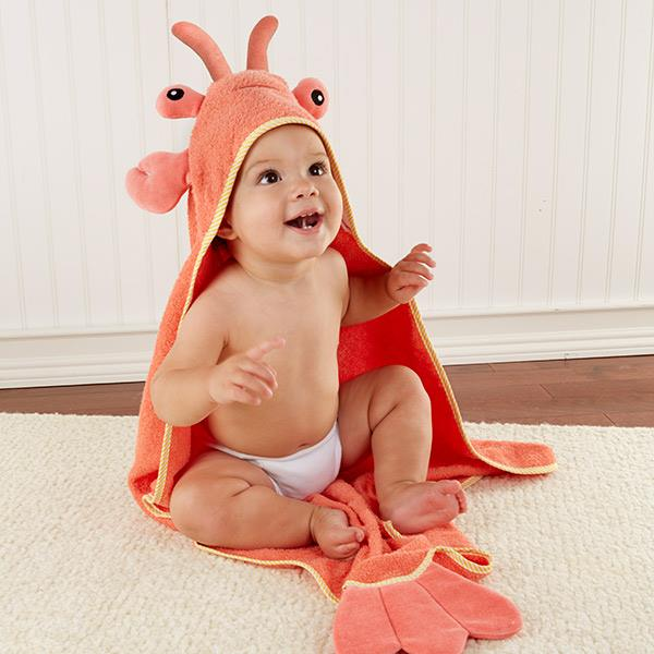 Lobster Laughs Hooded Towel-www.mylittlebabybug.com