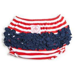 Americana Diaper Cover for Girls by Ruffle Buns | www.mylittlebabybug.com