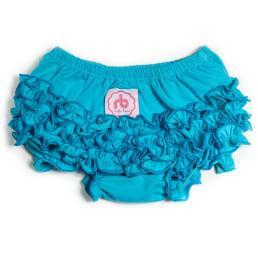 Electric Blue Diaper Cover for Girls by Ruffle Buns | www.mylittlebabybug.com