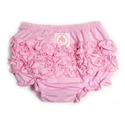 Pale Pink Diaper Cover for Girls by Ruffle Buns | www.mylittlebabybug.com