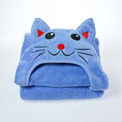 Kitty Cat Hooded Cotton Turkish Towel by Little Ashkim | www.mylittlebabybug.com