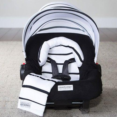 Black Stripes Car Seat Cover Whole Caboodle by Canopy Couture | www.mylittlebabybug.com