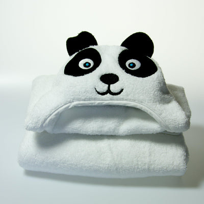 Panda Hooded Cotton Turkish Towel: Baby | www.mylittlebabybug.com