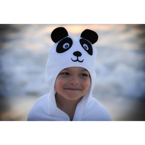 Panda Hooded Cotton Turkish Towel: Baby - www.mylittlebabybug.com
