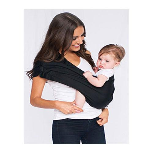 Black Adjustable Pouch Baby Sling Carrier by Hotslings | www.mylittlebabybug.com