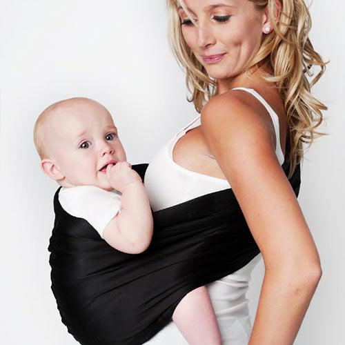 Black Adjustable Pouch Baby Sling Carrier by Hotslings - My Little Baby Bug