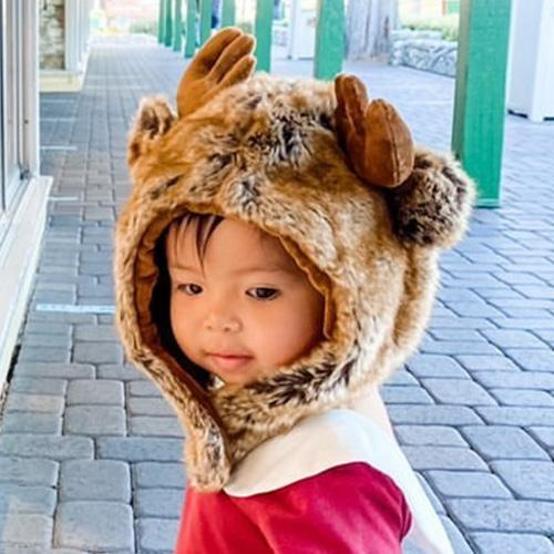 Moose Faux Fur Hat for Kids & Adults by Eskimo Kids - My Little Baby Bug