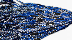 Round Custom Bracelets - (BR) - Royal Blue, Black, White