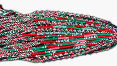 Round Custom Bracelets - Green, Red, White - Christmas