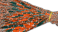 Round Custom Bracelets - (GD) - Dark Green, Orange, White