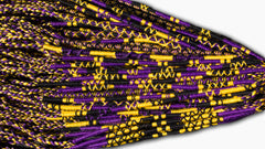 Round Custom Bracelets - (PU) - Purple, Gold, Black