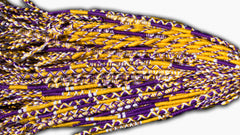 Round Custom Bracelets - (PU) - Purple, Gold, White
